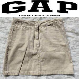 Gap Kakki SMini Skirt Sz 2